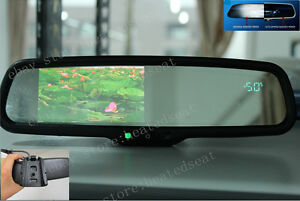 Auto Dimming Mirror 4 3 Lcd Display Compass Temp Fits Ford Gm Toyota Nissan Etc