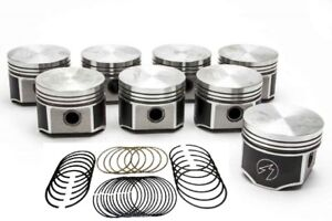 Speed Pro trw Chrysler dodge 383 Forged Flat Top Pistons moly Rings Set kit 30