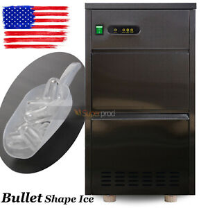 Countertop Stainless Steel Ice Maker Automatic 95 Lbs day Bullet Shaped Machine