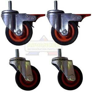 4 5 Threaded Stem Casters 1 2 13 X 1 1 4 2 Swivel W Brake
