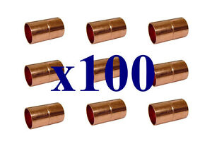 New Lot Of 100 Pcs Hvac Refrigeration Grade Copper Coupling 3 8