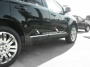 2007 2012 Ford Edge Lincoln Mkx Stainless Steel Body Side Slim Trim 4pc