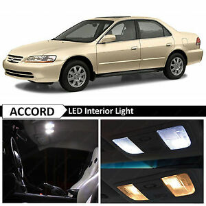 White Interior License Plate Led Light Package Fits 1998 2002 Honda Accord Sedan