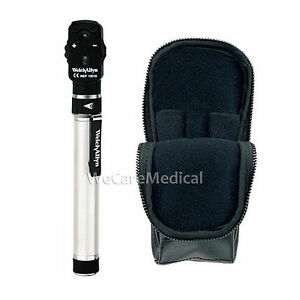 New Welch Allyn 2 5v Pocketscope Ophthalmoscope With Aa Handle Soft Case 12821