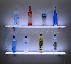 92 Wall Shelf Led Lighted great For Home Bars Liquor Bottle Product Display