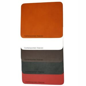 Personalised branded Real Leather Hide Mouse Mat  BROWN  TAN  RED  BLACK  WHITE