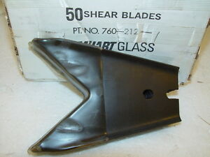 50 Emhart Glass 760 212 1 Steel Cutting Blades 85mm Standard Grind Black Oxide