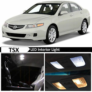 12x White Interior Led Lights Package Kit For 2004 2008 Acura Tsx
