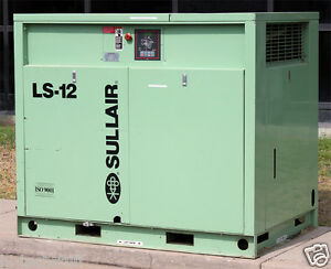 Sullair Corporation Ls 12 40l Industrial Air Compressor Ls 12 40l acac Working