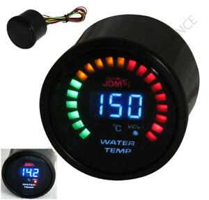 Universal Jdm Sport 52mm 2 Blue Led Digital Water Temperature Gauge Meter