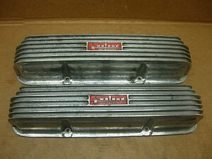 1960s Weiand Wfm 542 B Aluminum Valve Covers Ford Fe 428 427 390 Holman Moody
