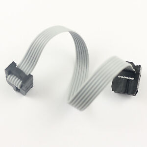 100pcs 2 54mm Pitch 2x3 Pin 6 Pin 6 Wire Idc Flat Ribbon Cable Length 10cm