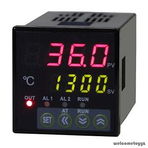 1 16 Din Dual 4 digit Digital Pid Temperature Controller thermocouple ssr 40da