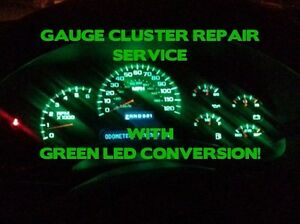 Repair 2003 06 Gm Silverado Tahoe Speedometer Instrument Cluster Gauge Green Led
