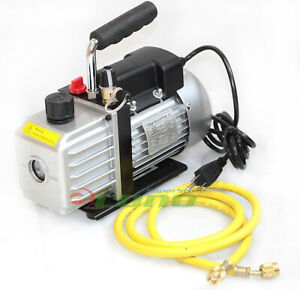 2 5cfm Ac A c Electric Rotary Vane Deep Air Vacuum Pump For R134a R12 r22 New
