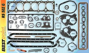 Chevy 216 235 Full Engine Gasket Set Best 1937 53 Head manifold valve Cover