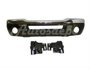 For 01 03 Ford Ranger Edge Front Bumper Chrom Valance Reinforce W fog Hole 4pcs