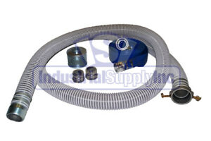 4 Complete Trash Pump Water Suction Discharge Hose Kit