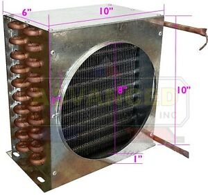New Leader Condenser Coil For Commercial Coolers Freezers 10 x10 x6