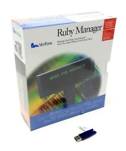 New Verifone Ruby Manager V 1 43 With Usb Hasp Key And Manual For Win Xp