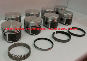 Speed Pro Chrysler Dodge 440 Forged Flat Top 4 Barrel Pistons Moly Rings Kit Std