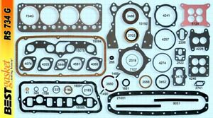 Desoto 276 291 330 341 345 Hemi Full Engine Gasket Set Kit Best 1952 1957