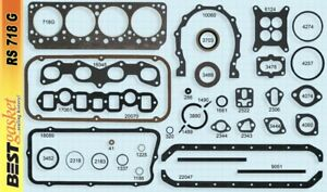 Chrysler 331 Hemi Full Engine Gasket Set Kit Best Head Intake Exhaust 1955