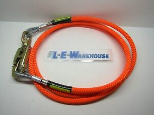 5 8 X 10 Wirecore Lanyard W Double Locking Swivel Steel Snap 75001