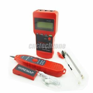 Network Lan Cable Tester Wire Tracker Length Scanner Lcd Display Nf 8208