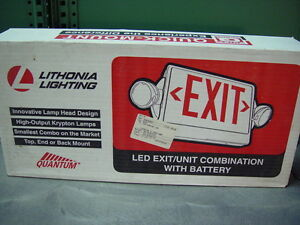 Lithonia Lighting Lhqmsw3r Emergency Exit Fixture Nib