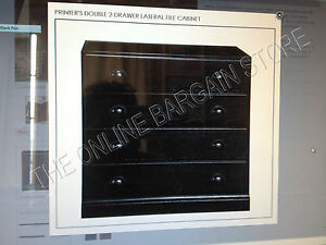 Pottery Barn Printers Double File Cabinet Drawer Build Your Own Unit Black Nib