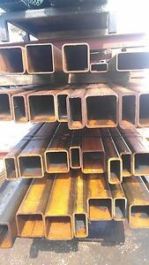 Light Rust Surplus 3 X 8 X 229 Hot Rolled Steel Square Tube 48 Long
