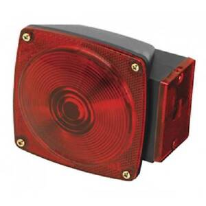 Trailer Tail Light Brake Turn Signal Stop Square Red 6 Function Replacement New