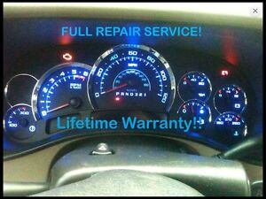Repair Service 03 06 Gm Cadillac Escalade Instrument Gauge Cluster W Led 04 05