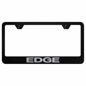 Ford Edge Logo Powder Coated Black Gloss License Plate Frame Tag