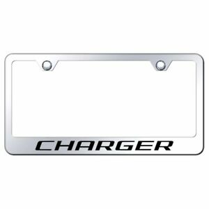 Dodge Charger Mirrored Chrome Stainless Steel License Plate Frame Lf Chg Ec
