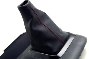 Manual Shift Boot Leather Synthetic For Honda Civic Si 12 15 Red Stitching