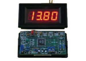 Led Panel Mount Digital Voltmeter battery Monitor gauge rectangle solar 9 20v Dc
