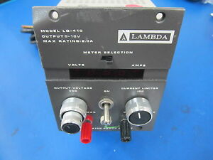 Lambda Regulated Power Supply Model Lq 410 0 10 Volt Output powers On
