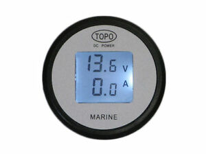 Lcd Volt Amp Meter gauge monitor 50a battery Monitor solar auto rv boat hho