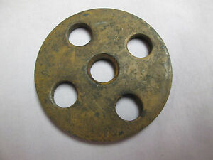 Caterpillar Towmotor Engine Mount Plate P n 323702 Forklift Od 3 1 4 Nos