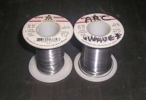 Qty 2 Aim 1lb Wire Solder Spool 025 Dia Flux Oaj 2 Sn63 Pb37
