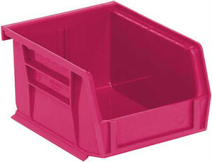 Stack And Hang Plastic Bin 5 3 8 X 4 1 8 X 3 24 cs Pink For The Cure