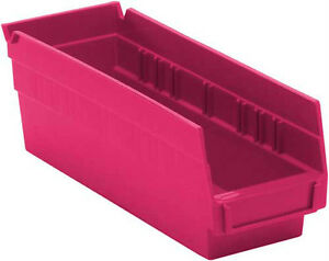 Quantum Nesting Plastic Bin 12 X 4 1 8 X 4 36 case Pink For The Cure