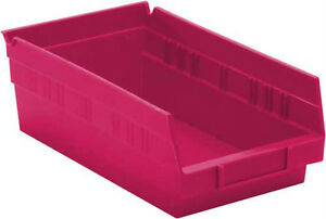 Nesting Plastic Storage Bin 12 X 6 5 8 X 4 30 case Pink For The Cure