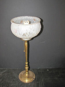 Tall Brass Candlestick Lamp With Added Shade 5823
