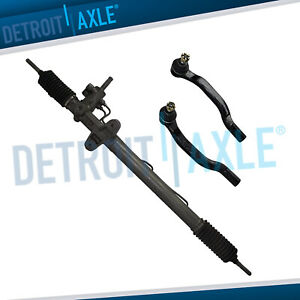 Complete Steering Rack And Pinion 2 Outer Tie Rods For Acura Cl Exc Type S