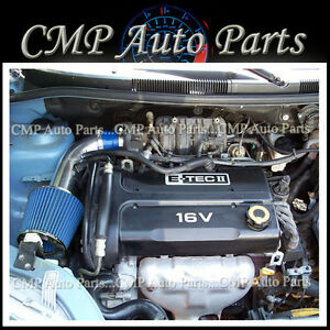 Blue 2004 2008 Chevy Chevrolet Aveo 1 6 1 6l Ls Lt Ram Air Intake Kit Systems
