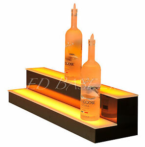 39 Led Bar Shelf Two Step Liquor Bottle Shelves Bottle Display Shelving Rack