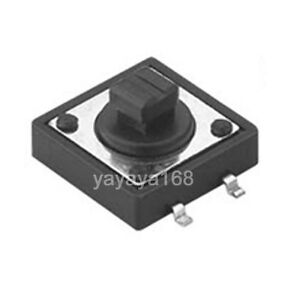 500pcs 4legs Smt Smd Tactile Switches 12x12mm Tact Switch Pcb Pushbutton Spst no